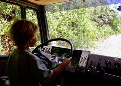 Jaxie takes the wheel
